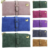 Women Purses Ladies Suede Wallet Clutch Long Card Holder Case Card Purse Handbag