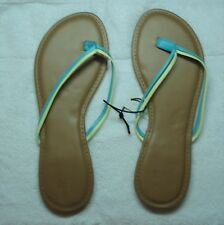New York & Company  Double -Strap Flip-Flop Sandal Green/ Yellow -Size 8  5/28-Y