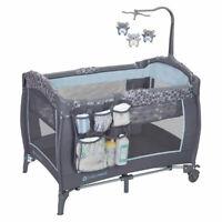 Baby Trend PY86B52B Trend-E Nursery Center Play Yard w/ Wheels, Starlight Blue
