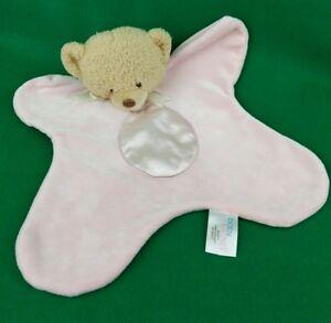 Baby Gund 1112KC Comfy Pink Teddi Bear Plush Lovey Security Blanket Teddy