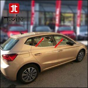 Set 4 Deflettori Aria Antiturbo Oscurati Seat Ibiza V KJ 5 porte 5p dal 2017