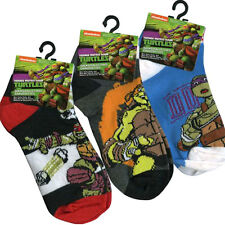 6 PAIR Teenage Mutant Ninja Turtles Boys Kids Socks Fit 6-8.5 Shoes 10.5-2.5 NEW