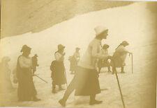 PHOTO ANCIENNE - VINTAGE SNAPSHOT - GROUPE MONTAGNE ALPINISME MODE - MOUNTAIN 1