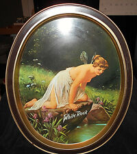 VTG WHITE ROCK NUDE FAIRY OVAL BEER SERVING TRAY