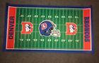 "Vintage Denver Broncos Football Plush Rug Mat Large 52""x28"""