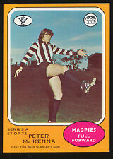 1973 A Scanlens No. 67 Peter McKenna Collingwood Magpies MINT Card r