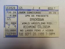 Ticket - Smackdown - World Wrestling Fed. - Richmond Coliseum - Catch 28/09/1999