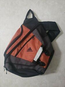 Adidas Bookbag One Strap Load Spring Backpack Shoulder Sling Copper Black Padded