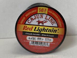 Cajun Line Red Lightnin' 14 LB Test 850 YD CL14QB  Sealed Spool