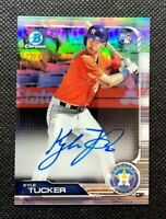 2019 Bowman Chrome Kyle Tucker National Silver Refractor Rookie Auto Rc /499