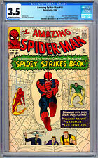 AMAZING SPIDER-MAN #19 CGC 3.5 STAN LEE STEVE DITKO ART HUMAN TORCH SANDMAN 1964