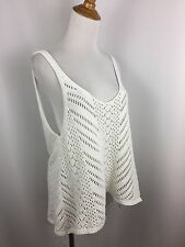 A&F ABERCROMBIE & FITCH WOMENS S SMALL WHITE LOOSE FIT OVER SIZED KNIT TOP