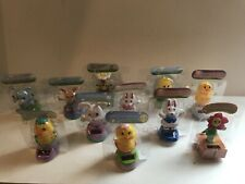Solar Powered Bobble Heads Toys Easter Bunny Rabbit Chick YOU PICK Lot Of 3
