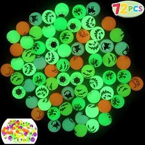 "JOYIN 72 Glow in The Dark Bouncing Balls 1.25"" | 6 Halloween Theme Colourful"