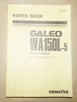 2004 Komatsu Galeo WA150L-5 Wheel Loader Parts Book Manual P/N PEPB108201