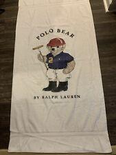Vintage Polo Bear Beach Towel Ralph Lauren American Flag USA