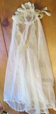 Lot 2 1930's First Communion Tulle Veils Handmade Hand Sewn