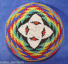 "Paiute Beaded Basket with Four-sided Star Motif c.1930-50 2 1/2"" x 5 1/2"""