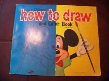 "1960 Walt Disney's ""How to Draw and Color Book""  Draw Mickey Mouse & Donald Duck"