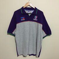 Fremantle Dockers Polo Shirt Russell Athletic Vintage 2003 AFL Mens Large