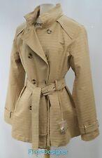 JOHNSTON & MURPHY Women's Rain Jacket Coat Double Breasted trench hood SZ XL NEW