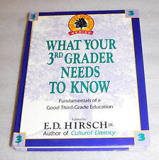 Core Knowledge What Your Third Grader Needs to Know 1992 HC Fundamentals