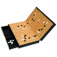MYUNGIN Folding Magnetic Travel Go Weiqi Baduk Game Set Board Pieces with Drawer