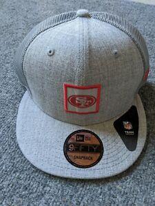 Gray - New Era San Francisco 49ers Shanahan Square Trucker snapback - BRAND New