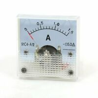1Pcs DC 1.5A Analog Panel AMP Current Meter Ammeter Gauge 91C4 DC 0-1.5A