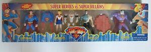 Superman Animated Super Heroes VS Super Villains 4 pack Bizarro Metallo NEW
