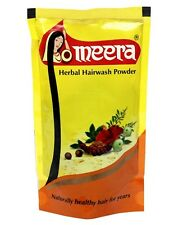 Meera Herbal Hairwash Powder 80gm shikakai, tulsi, vetiver Shampoo paste