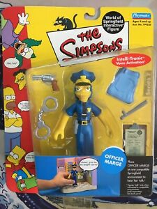 Playmates THE SIMPSONS Officer Marge WOS Action Figure MOC