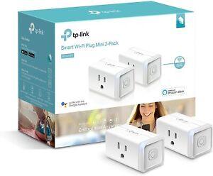 TP-Link 2-Pack Smart Mini Wi-Fi Plug Lite   Alexa Google Home   HS105 Kit