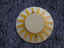 Flipper 2x jaune Sunburst Pare-Chocs Capuchon Plastique Original Flipper