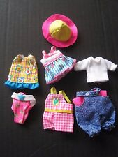 Barbie Kelly & Friends Lot of 7 Doll Clothes Beach Casual Barbie Labels