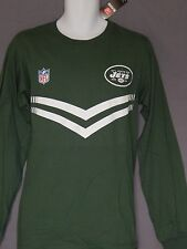 New York Jets NFL Football Long Sleeve T-Shirt Pullover Reebok Mens Size S Small
