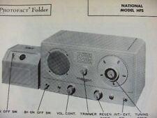 NATIONAL HFS MULTI-BAND SHORT WAVE RADIO RECEIVER PHOTOFACT
