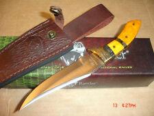 TIMBER  RATTLER   GOLD  STARDARD  FULL TANG  BONING    KNIFE W/LEATHER  SHEATH