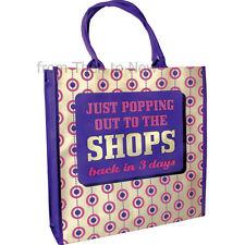Umorismo riutilizzabili Retrò SHOP TIL YOU DROP BACK IN 3 GIORNI SHOPPING SHOPPER TOTE BAG
