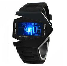 LED Flashlight Alarm Herren Kinder Sportuhr Uhren Silikon Armbanduhr Wasserdicht
