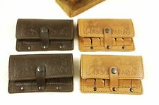 Leather Shell Cartridge Holder, pouch for belt, ammunition, hunting, embossed L