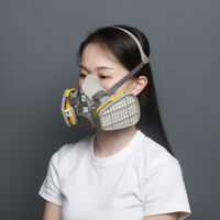 3M, 3 IN 1, 6200 Half Face Reusable Respirator For Spraying & Painting, MEDIUM