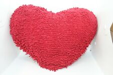 VALENTINE'S DAY LARGE RED CHENNILE HEART PILLOW