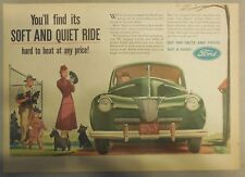 Ford Car Ad: You'll Find a Soft and Quiet Ride !  from 1941 Size: 11 x 15 inches