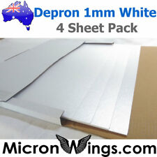 Depron Foam Pack - 1mm White (box of four sheets)
