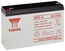 YUASA NP10-6, 6V 10AH (as 12Ah) EMERGENCY LIGHT LIGHTING BATTERY