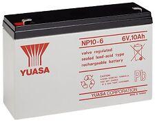 YUASA NP10-6, 6V 10AH (as 12Ah) EMERGENCY LIGHT LIGHTING BATTERY