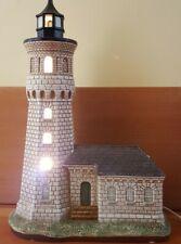 "Lefton Historic Lighthouse Fort Niagara Ny Lights Up Ceramic Figurine 11.5"" tall"