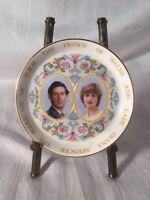 "1981 ROYAL WEDDING OF PRINCE CHARLES & LADY DIANA COALPORT China Plate 4"""