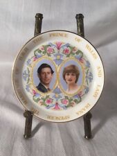 1981 ROYAL WEDDING OF PRINCE CHARLES & LADY DIANA COALPORT China Plate 4""